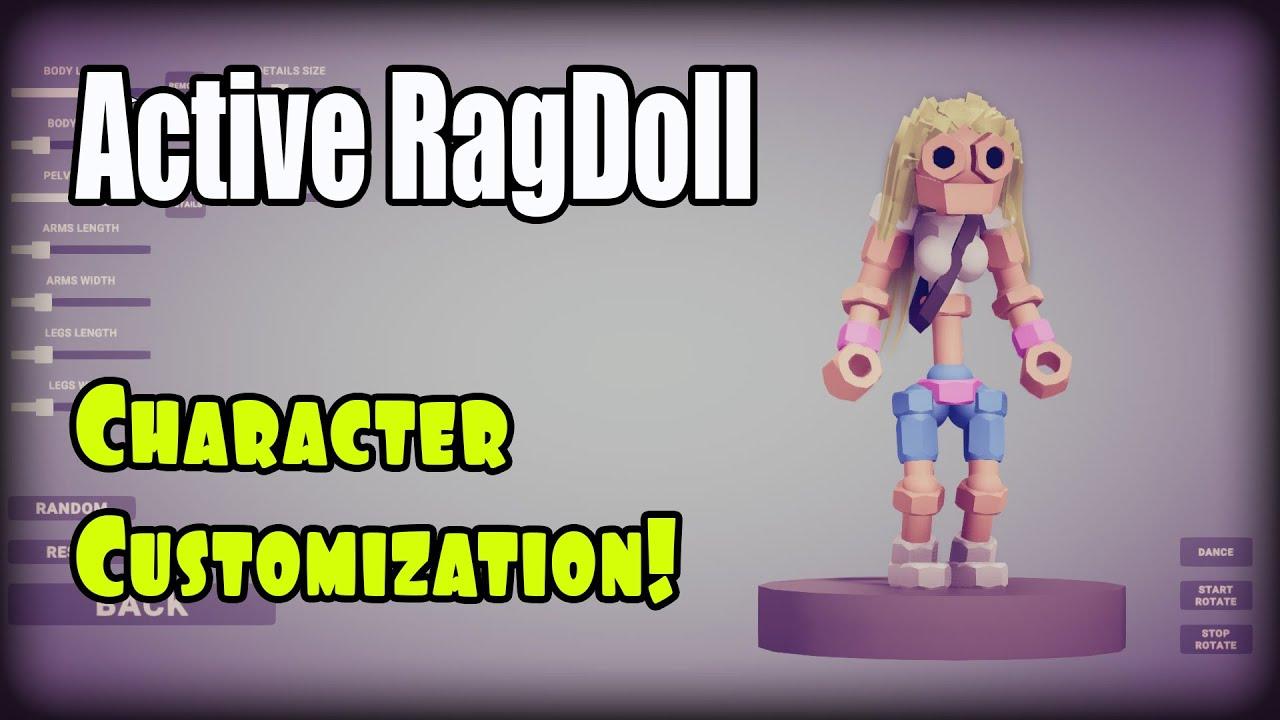Active Ragdoll in Unity, development progress, Character Customization!