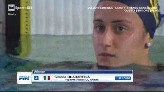 08-04-2017 pom. 1500 Stile Libero F Serie 1 Quadarella Simona 3'40,93 Campionato Italiano Ass. v.50
