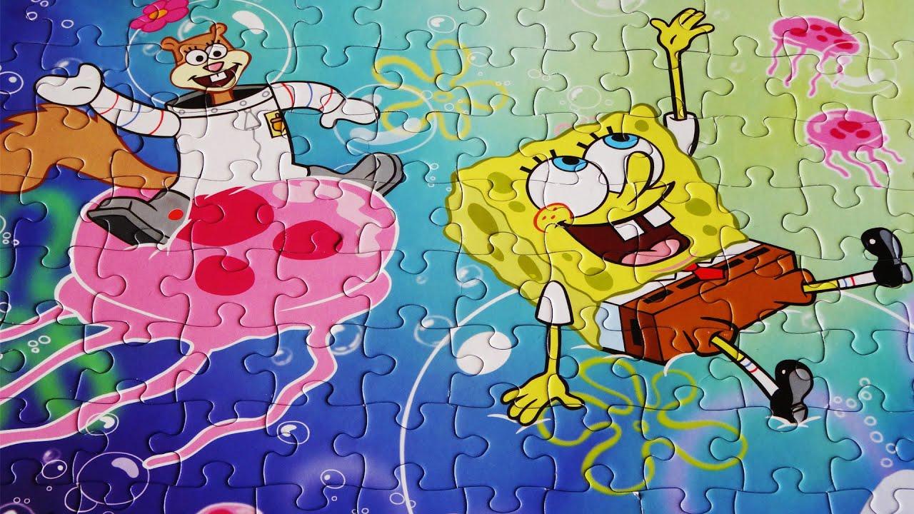Nickelodeon Spongebob Squarepants Puzzles For Kids - 100 Pieces ...