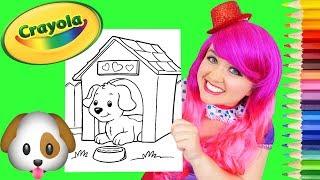 Coloring Puppy Dog House Crayola Coloring Page Prismacolor Pencils | KiMMi THE CLOWN