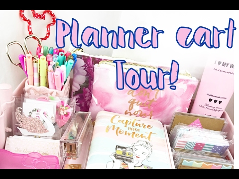 PINK IKEA RASKOG CART TOUR 2017// PLANNER SUPPLIES