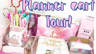PINK IKEA RASKOG CART TOUR// PLANNER SUPPLIES