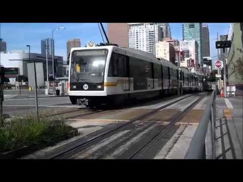 Metro Blue And Expo Lines Action In Downtown LA