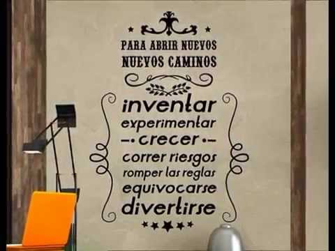 Vinilos decorativos estilo vintage - YouTube