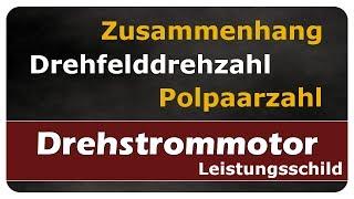 Let's Learn Zusammenhang Drehfelddrehzahl und Polpaarzahl - Leistungsschild / Typenschild