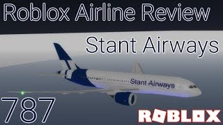 Roblox Airline Review: Stant Airways (the plane kept bouncing!)