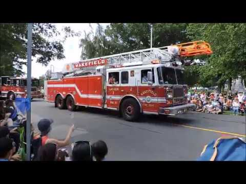 4th of July Parade in Wakefield, MA (Common St) 2017