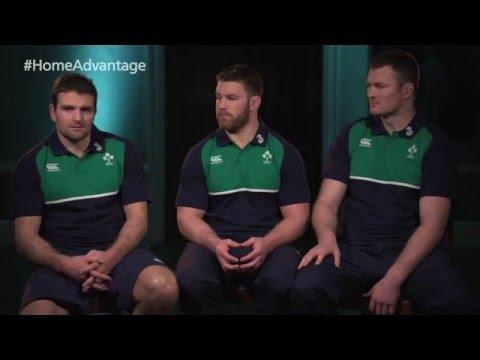 What does Home Advantage mean to Jared Payne, Sean O'Brien and Donnacha Ryan?