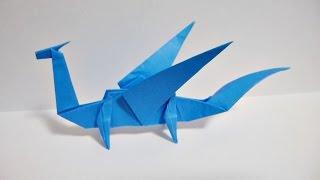 Repeat youtube video Easy Origami Dragon 折り紙 折り方 簡単なドラゴン