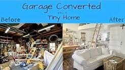 Converted a Garage into A Tiny Home, 400 sq feet + Loft