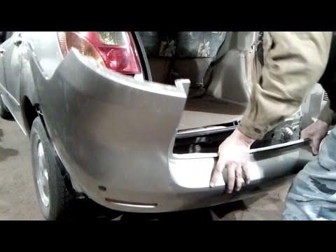 Как снять задний бампер. Toyota Spacio