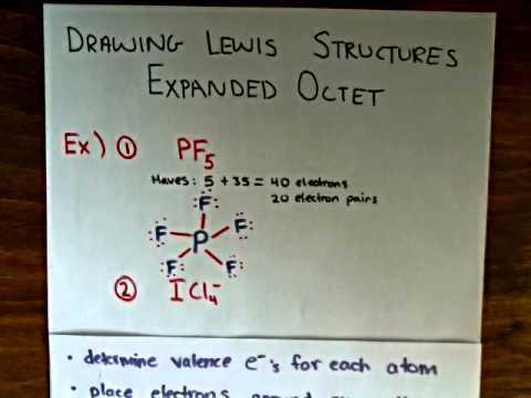 Lewis Structures With Expanded Octets Examples 1