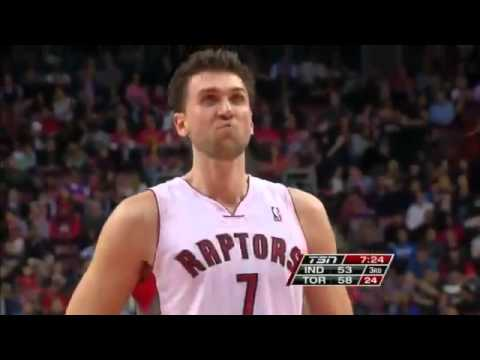 Andrea Bargnani vs Indiana Pacers / Oct. 31st, 2012 (2nd part)