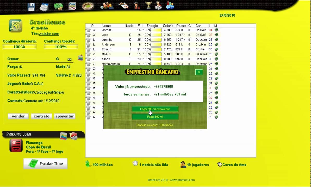 brasfoot 2010 para pc