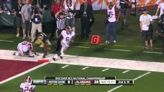 The alabama crimson tide dominated undefeated notre dame fighting irish from start to finish in this edition of bcs national championship. dame...