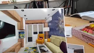 Первый вариант  дизайна квартиры
