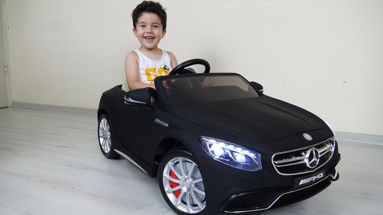 Yusufa Yeni Akülü Araba Siyah Mercedes Benz Amg Açtık Kurduk
