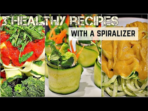 3 EASY HEALTHY RECIPES W/ A SPIRALIZER ♥ Cheap Lazy Vegan