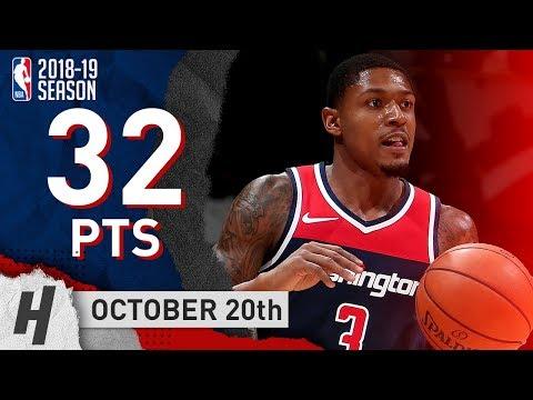 Bradley Beal Full Highlights Wizards vs Raptors 2018.10.20 - 32 Points!