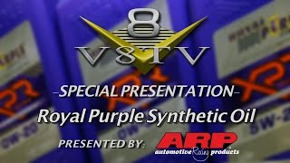 New Formulations of Royal Purple Synthetic XPR Racing Oil and Purple Ice at SEMA 2015 Video V8TV