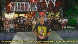 la WWE vous souhaite de bonnes fêtes de fin d'année Français