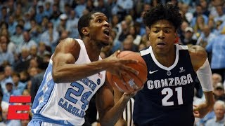 No. 12 North Carolina beats No. 4 Gonzaga at Chapel Hill | College Basketball Highlights