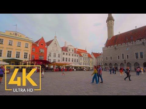 Exploring Tallinn, Estonia  - 4K Walking Tour with City Sounds