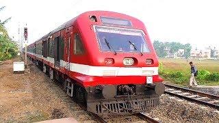 DEMU Train Start Up   Quick Acceleration of Sealdah-Jangipur Road DEMU Train after Departure