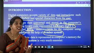 I PUC | Computer science | Data representation - 01