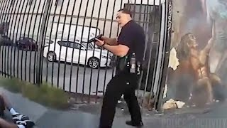 Bodycam Footage of Jesse Romero Shooting by LAPD Officer thumbnail