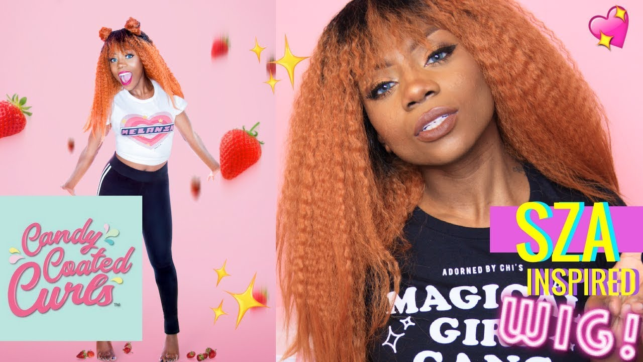 SZA + SPICE GIRLS INSPIRED STRAWBERRY WIG! CANDY COATED CURLS STYLING + UNBOXING !!