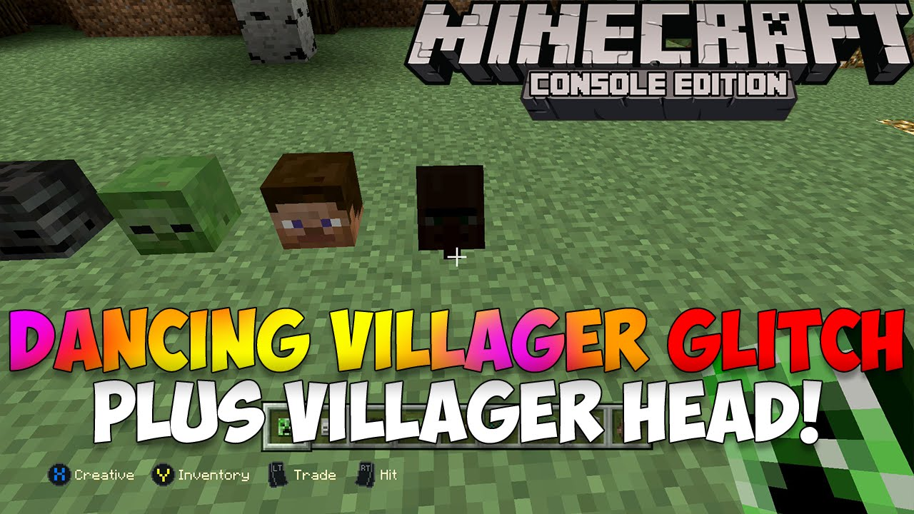 Minecraft xbox playstation dancing villager glitch mob head minecraft xbox playstation dancing villager glitch mob head gopher villager youtube sciox Images