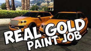 GTA V REAL GOLD PAINT JOB (TAKE A LOOK)