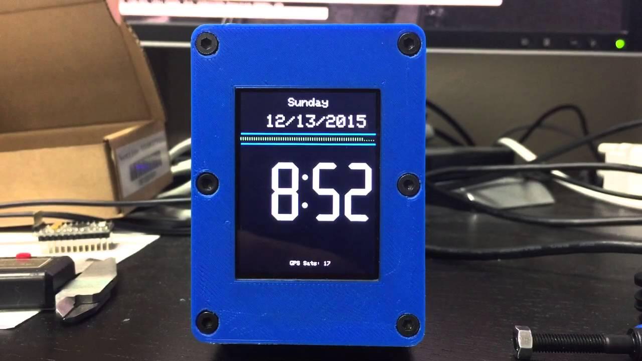 Arduino GPS Nightstand Clock