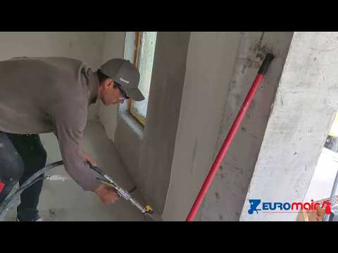 Ceresit 126 skim-coat? Spray it airless with Euromair Minijet 80