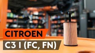Kuinka vaihtaa öljynsuodatin ja moottoriöljy CITROEN C3 1 (FC, FN) -merkkiseen autoon [AUTODOC]