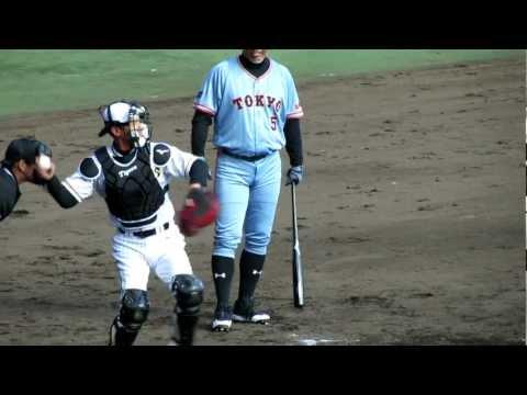 2012 11/18 阪神対巨人OB 藪投手・矢野捕手バッテリー対清原選手 乱闘w