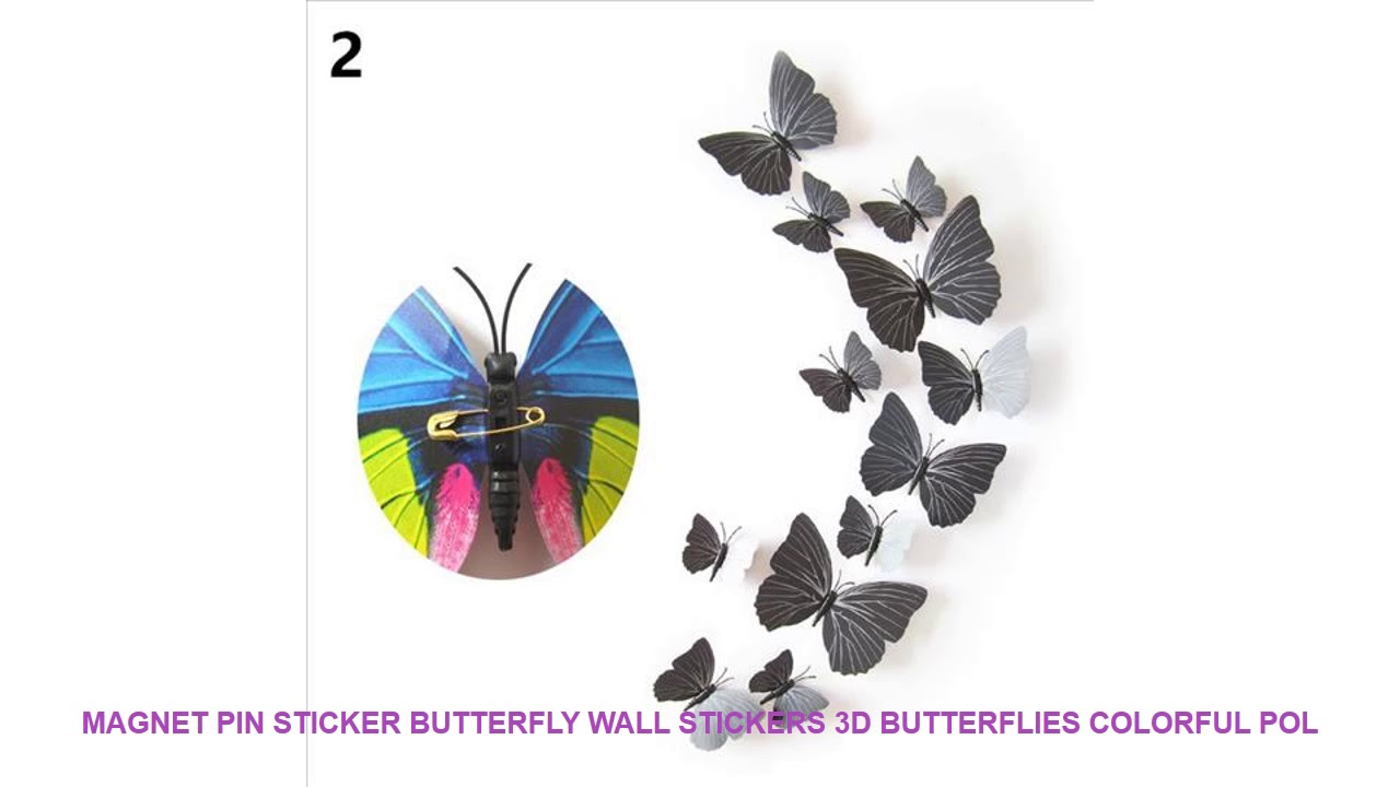 3d butterfly wall stckers wall decors wall art wall.htm magnet pin sticker butterfly wall stickers 3d butterflies colorful  magnet pin sticker butterfly wall