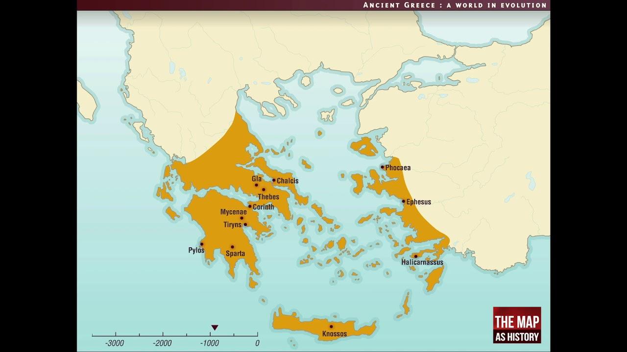 Ancient Greek World Map THREE MINUTE HISTORY: Greek Civilization | Geography of the Greek
