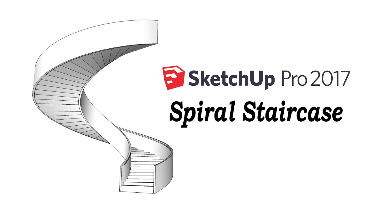 sketchup tutorial how to make a spiral staircase youtube. Black Bedroom Furniture Sets. Home Design Ideas