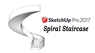 Video Sketchup Tutorial : How To Make A Spiral Staircase download MP3, 3GP, MP4, WEBM, AVI, FLV Desember 2017