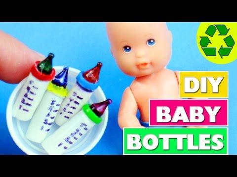 How to Make Miniature Baby Bottles - simplekidscrafts