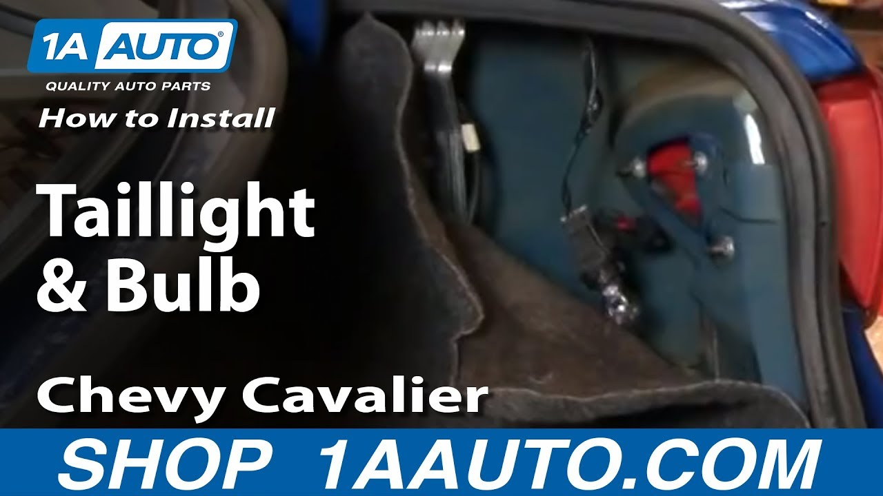 How To Replace Tail Light 03 05 Chevy Cavalier
