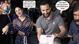 This Video Of Saif & Kareena Giving Food 2 Reporters Outside House On Sons B'Day is Heart Melting