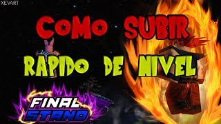 ROBLOX DRAGON BALL Z FINAL STAND AS RAISE LEVEL FASTER OR EARN MUCH EXP (SPANISH)
