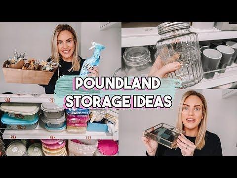 POUNDLAND STORAGE AND ORGANISATION IDEAS | SHOP WITH ME HAUL 2020