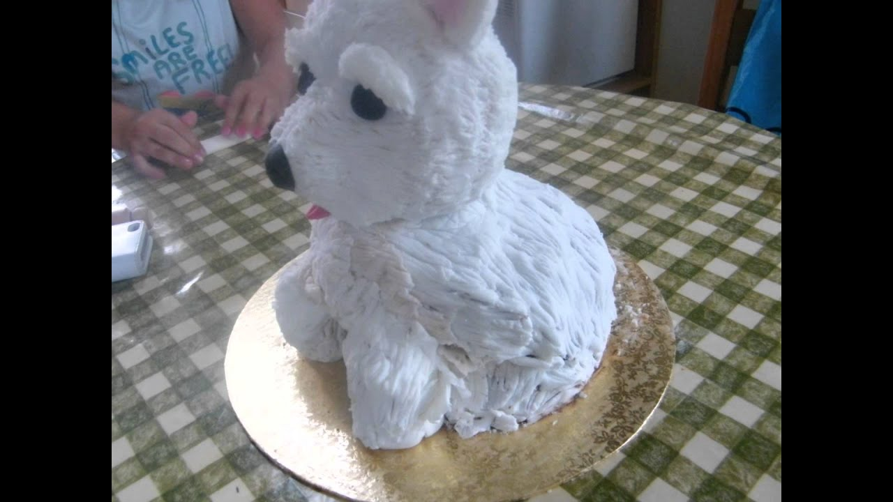 How To Make A Sitting Dog Cake
