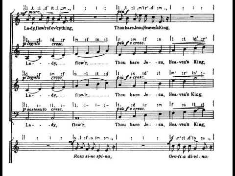Benjamin Britten - A Hymn to the Virgin (w/score)