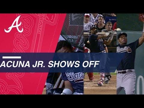 Acuna Jr. hits a homer, robs a homer vs. Nats