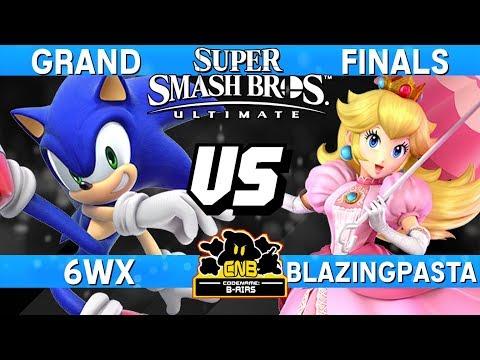 Smash Ultimate Tournament Grand Finals - 6WX (Sonic) vs BlazingPasta (Peach)  - CN:B-Airs 168